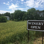 Antietam Creek Vineyard's open sign.