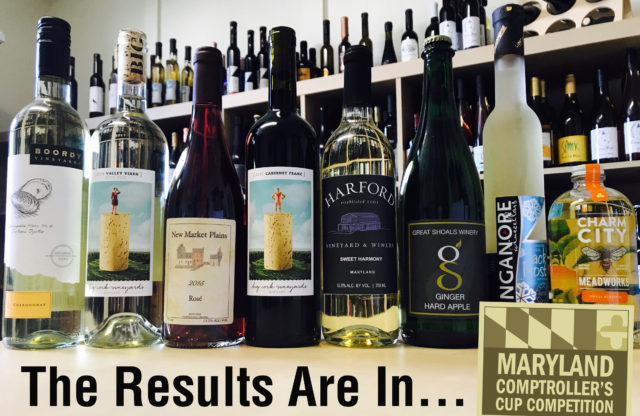 Maryland Comptroller's Cup Wine Competition 2017 Results