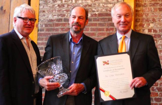 Comptroller Franchot awards Best in Show Award to Big Cork Vineyards