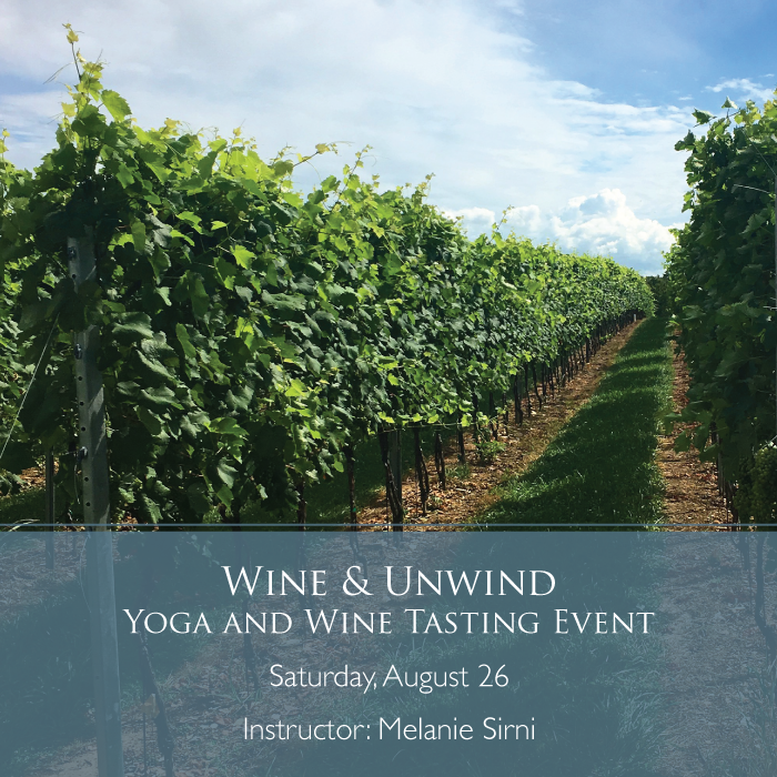 Yoga in between the vines at Antietam Creek Vineyards