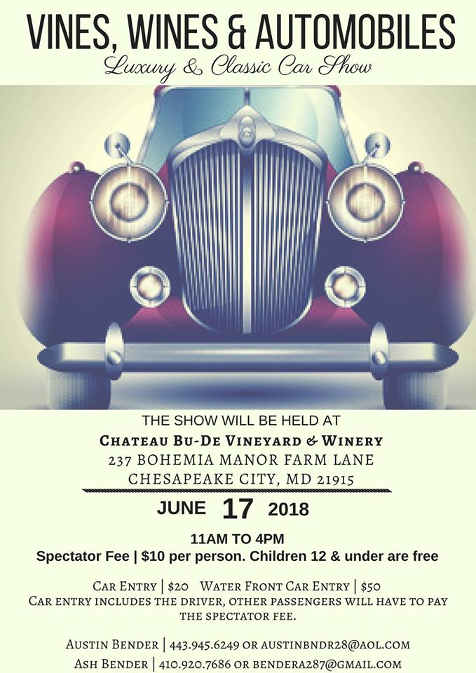 Vines, Wines & Automobiles Car Show - Maryland Wineries Association