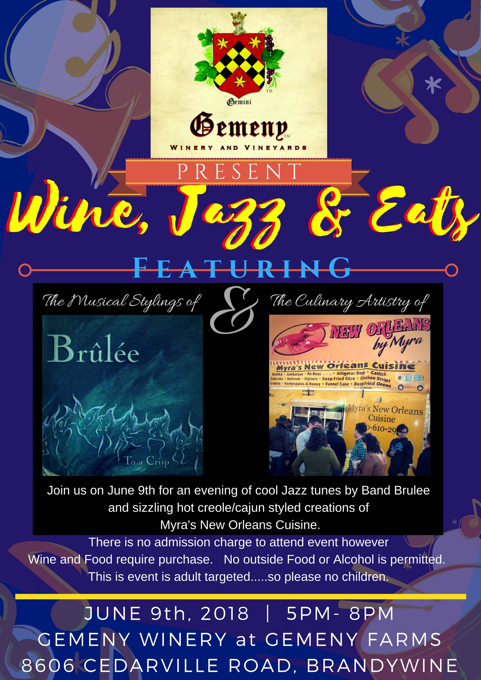 Wine and Jazz - Maryland Wineries Association