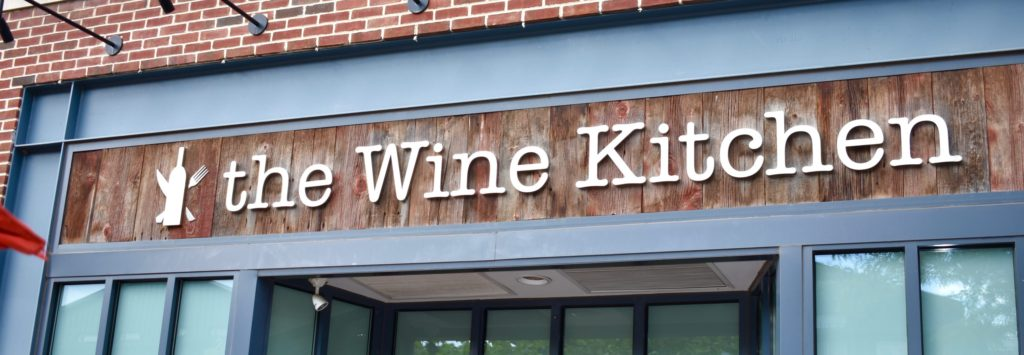 View of Wine Kitchen sign.