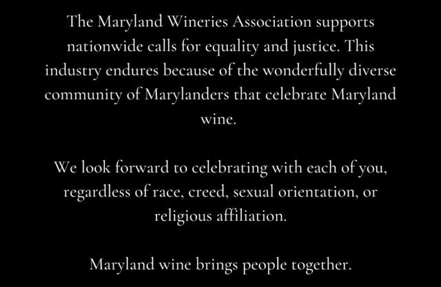 Maryland Wine Supports Nationwide Calls for Equality & Justice