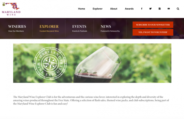 Maryland Wine Explorer Program Launched