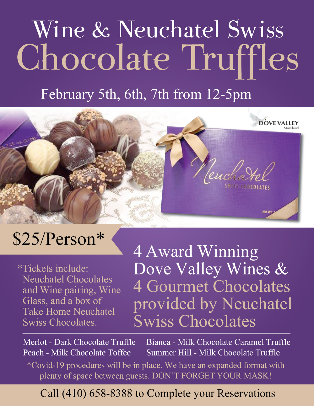 WINE & CHOCOLATE TRUFFLES