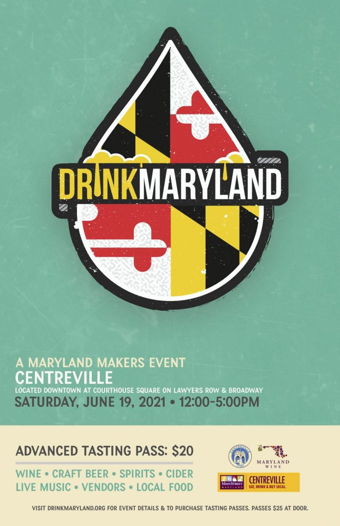 DrinkMaryland: Centreville Poster describing the event date and time.